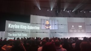 "Kaylee King-Balentine (NYT) in der ""Keynote Factory"""