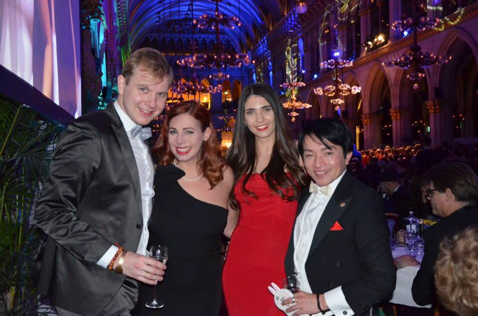 vlnr.: Fabian Buchmann, Hillevi Hofmann, Miss Oberösterreich, Nhut La Hong