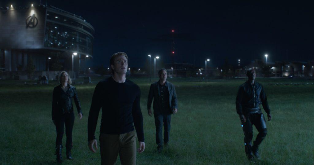 Black Widow/Natasha Romanoff (Scarlett Johansson), Captain America/Steve Rogers (Chris Evans), Bruce Banner (Mark Ruffalo), and War Machine/James Rhodes (Don Cheadle)