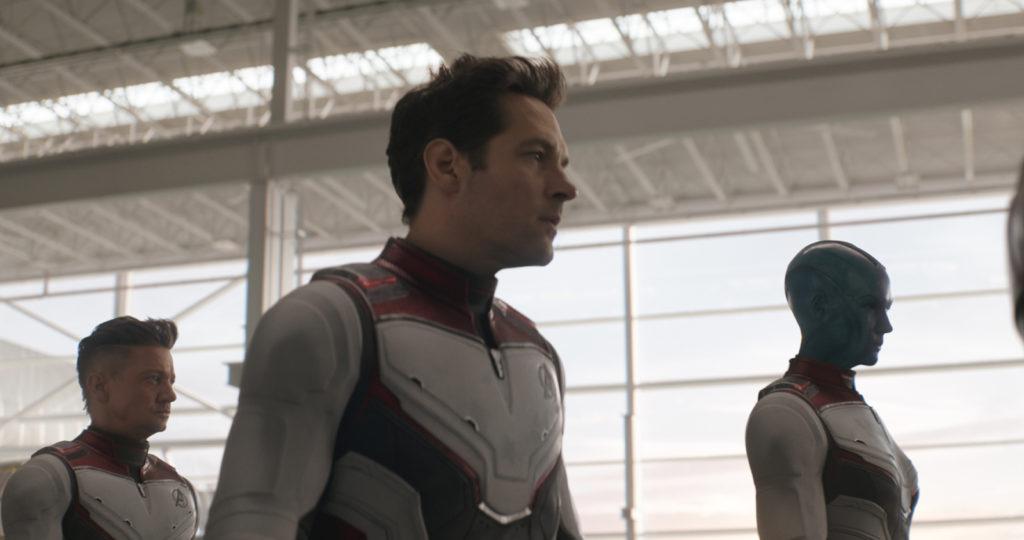 Hawkeye/Clint Barton (Jeremy Renner), Ant-Man/Scott Lang (Paul Rudd) and Nebula (Karen Gillan)